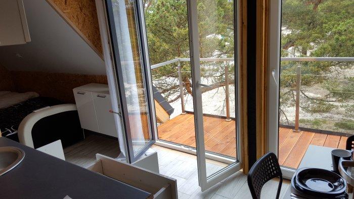 Hotel hel noclegiStudio dwuosobowe z balkonem.