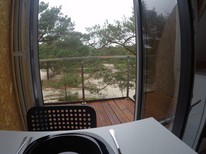 Hotel hel noclegiStudio czteroosobowe małe z balkonem.